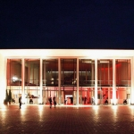 front of Alte Kongresshalle Munich by night